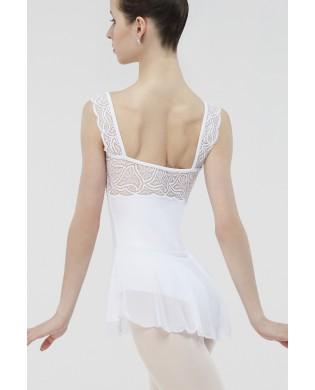 Tunique de Danse Etincelle Blanc