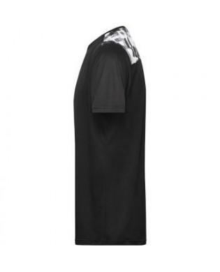 T-Shirt Sport Homme Uni et Imprimé Noir