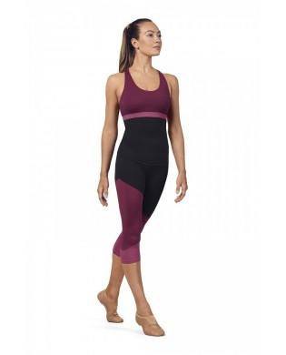 Leggings Sport femme 3/4 Tri Colore Rose