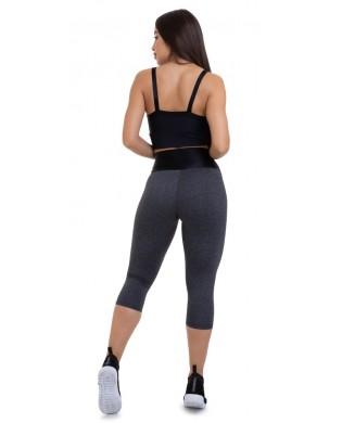 Leggings Sport Femme Court Noir