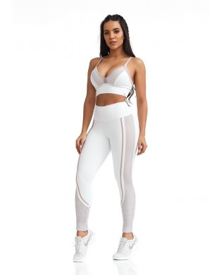 Leggings Yoga Femme Cool Blanc