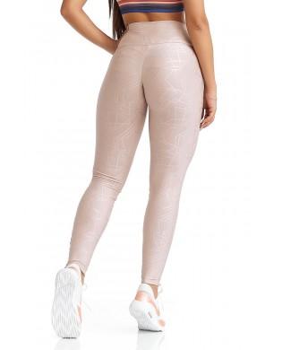 Leggings Sport Femme Elastic Rose