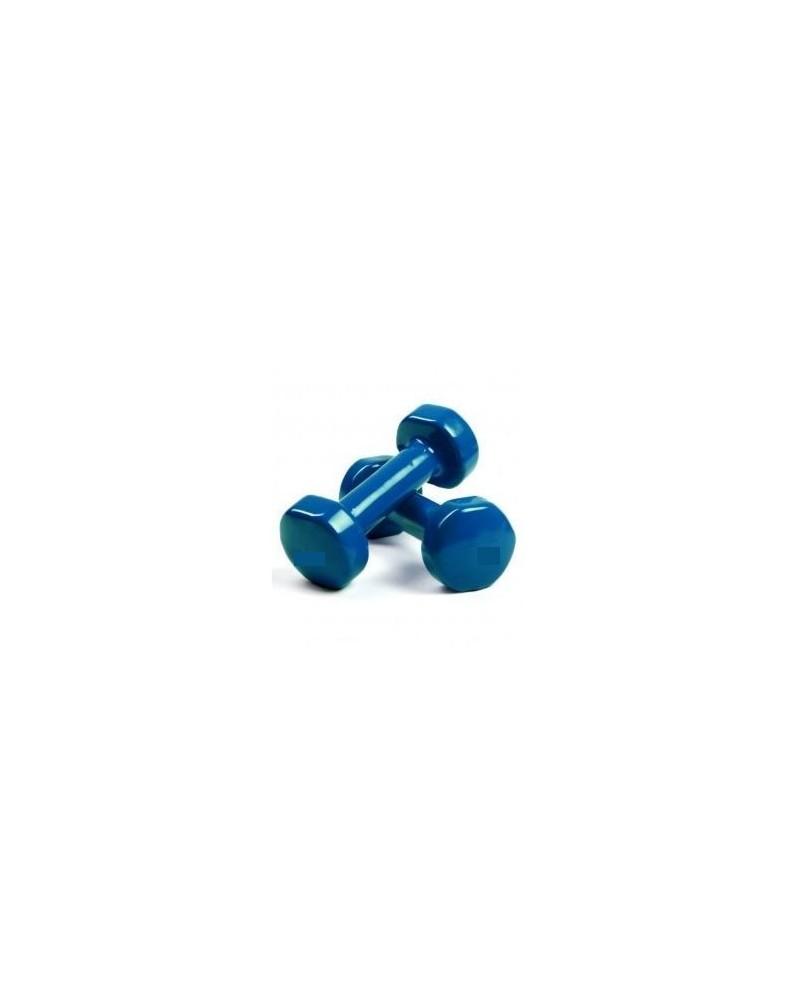 Haltères Vinyle Bleu 3kg, la paire
