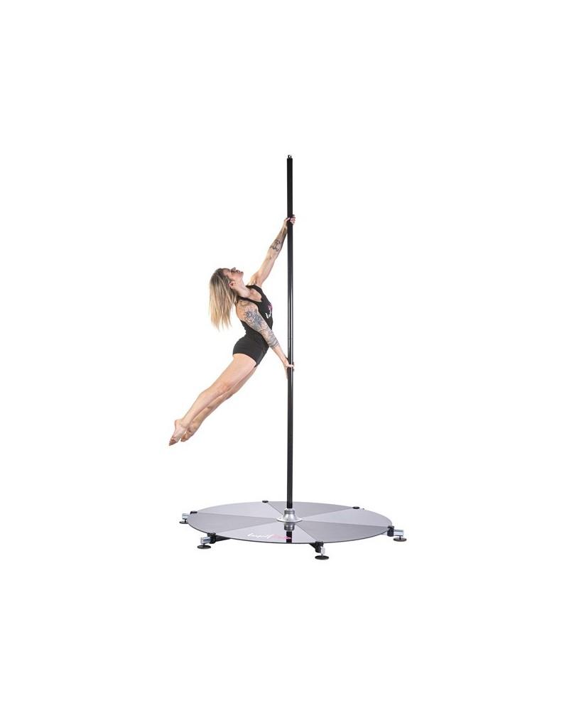 Barre Pole Dance avec Podium Petits Pieds Chrome