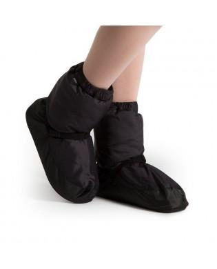 Schwarze Warm Up Booties Stiefel