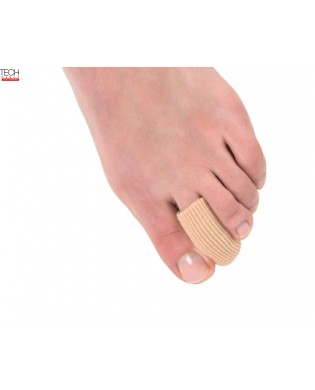 2 closed silicone gel toe tips