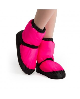 Neon Pink Warm Up Booties