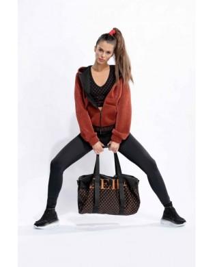 Schwarze Sporttasche mit...