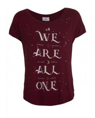 T-Shirt Yoga Damen We are all one Rot B34556 DEHA