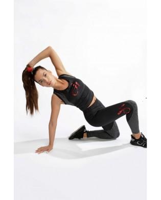 Women's recycled textile sport leggings