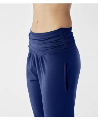 Pantalon Yoga coton bio Bleu