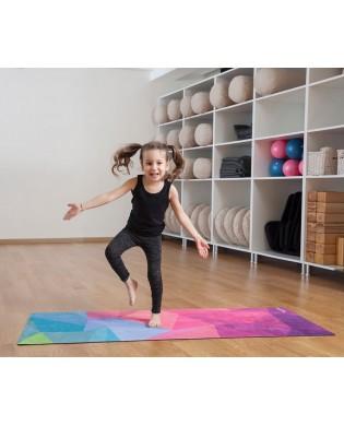 Tapis de Yoga pour Enfant Geo Bleu
