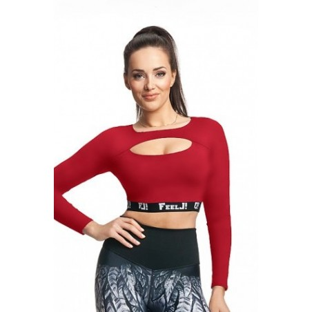 Women's crop top with long sleeves
