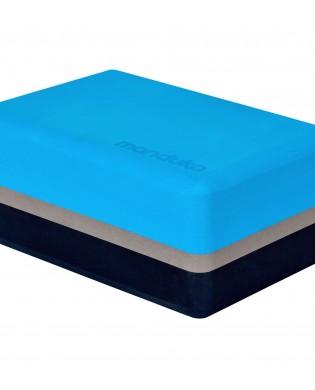 Dreifarbige Yoga Block Manduka Blau
