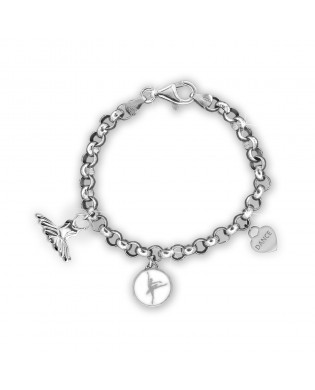 Bracelet 3 charms Danseuse