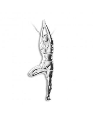 Pendentif Collier Yoga Posture de l'Arbre