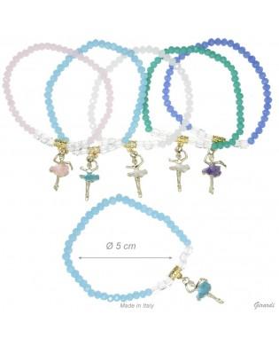 Elasticated Bracelet with ballerina