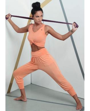 Damen Soft Yoga-Hose Orange, Schwarz, Rosa