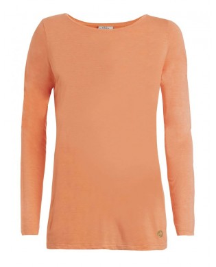 Damen Yoga-T-Shirt lange Ärmel Orange oder Rosa