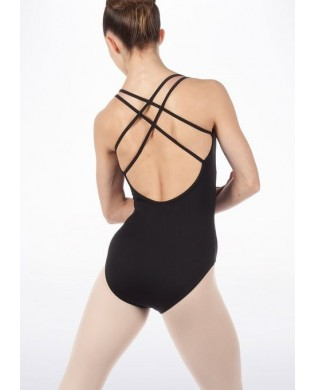⇒ Black cross back Leotard   Ezabel Fitness Dance Yoga