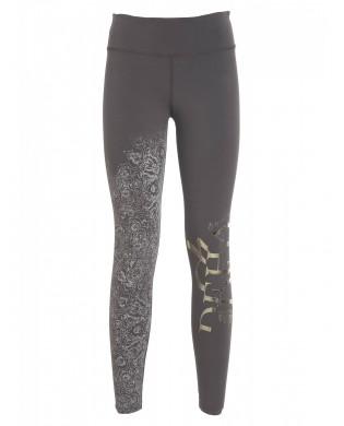Leggings Yoga Femme Graphique B44247 DEHA parme ou noir