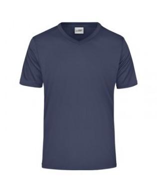 T-Shirt Sport col V Bleu Marine