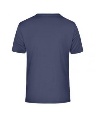 T-Shirt Sport col V Bleu Marine Dos