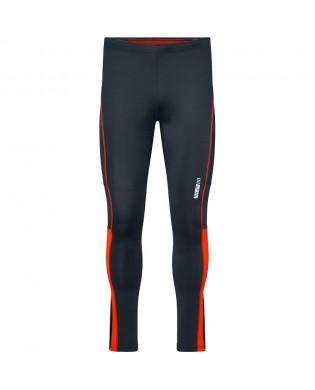 Grau und Orange Sport Leggings