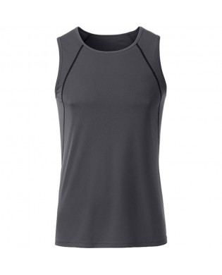 Grey Sports Tank Top for Man