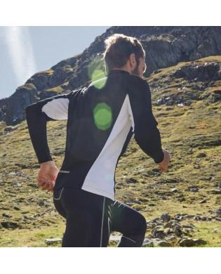 Langen Ärmeln Sport-T-Shirt für Herren Schwarz und Weiss