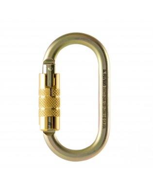 Carabiner Oval Auto Lock Gold