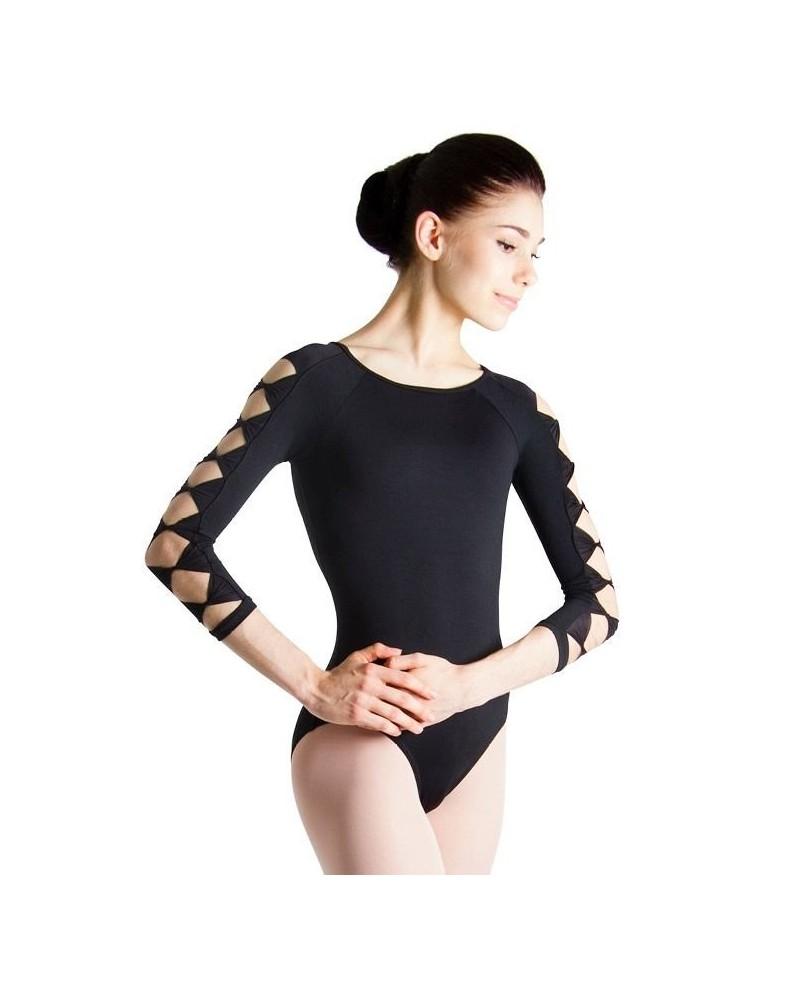 Women's 3/4 sleeves leotard Bloch L6106 black
