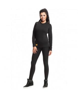 T-shirt Sport Femme Thermique noir