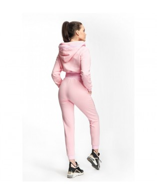Pastel pink women's jogging pants