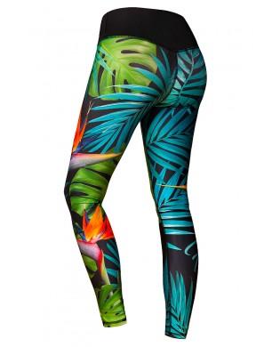 Women's Sport Leggings Green Paradise