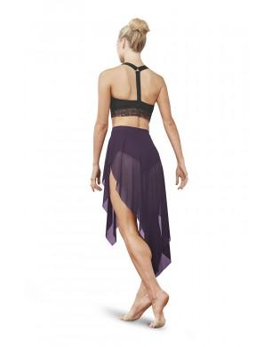 Women's dance skirt Mireya R3541 purple