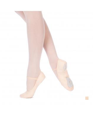 Demi-Pointes de Danse Bi-Semelles SYLVIA rose saumon pour danseuse débutante