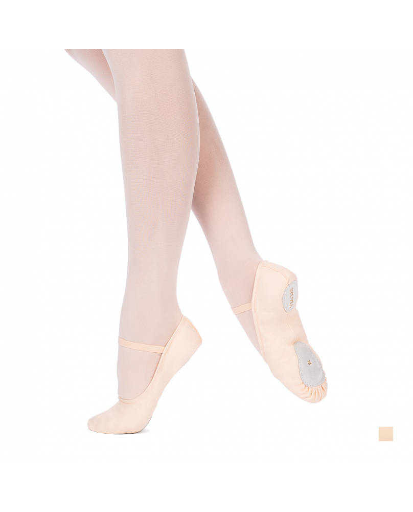 Sylvia salmon pink split sole ballet shoe for beginner dancer