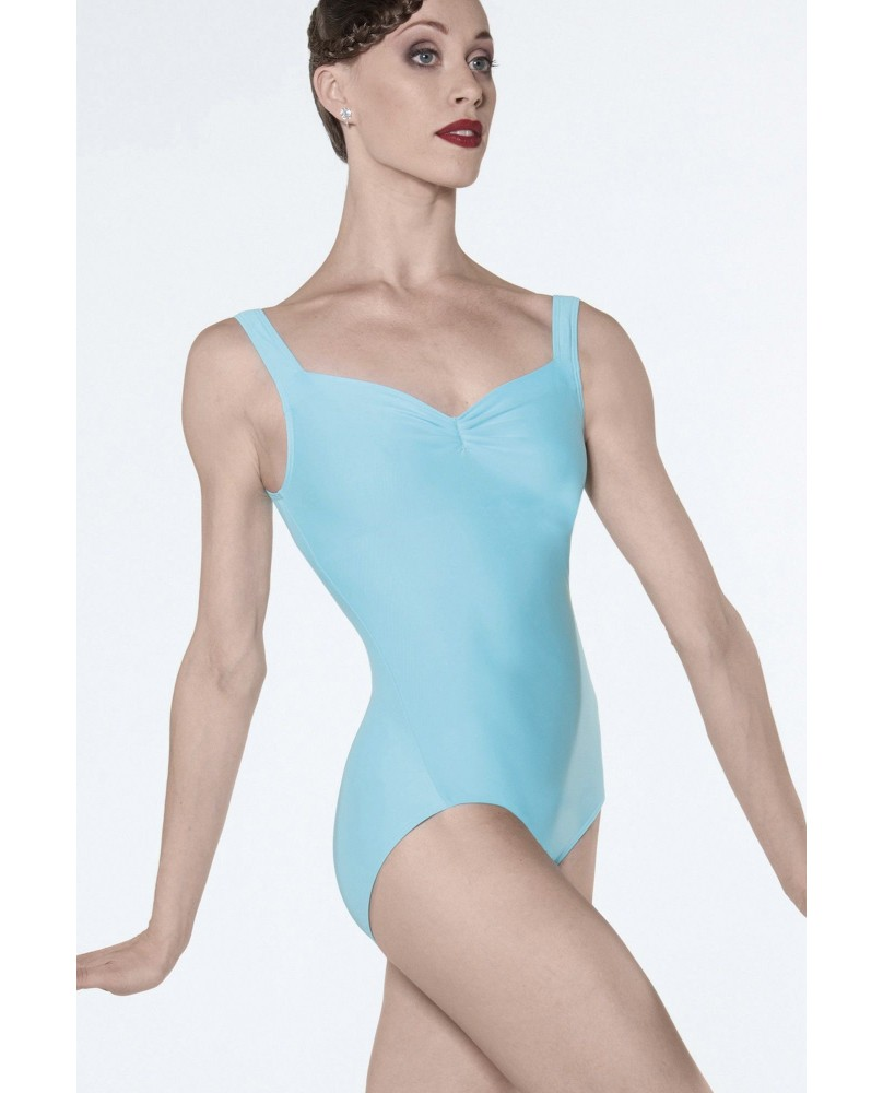 Justaucorps body danse Faustine Femme Turquoise Pacific