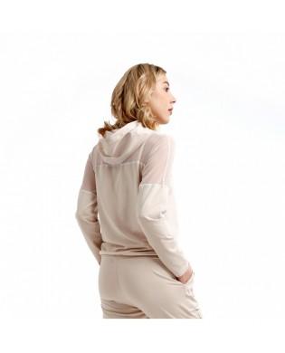 Sweat Sport Femme à Capuche Safari beige