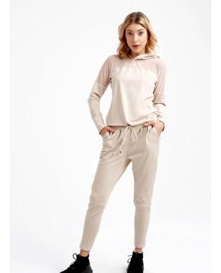 Pantalon Baggy Sport Femme Safari coloris beige