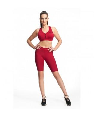 Red Women's Biker Bermuda shorts