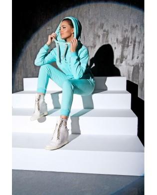 Pantalon Jogging Sport femme turquoise