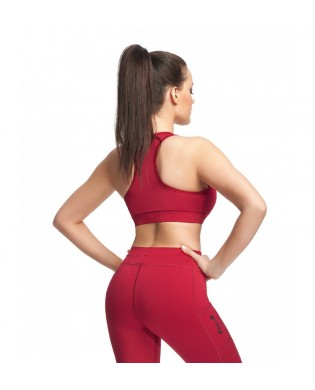 Brassière Sport Push Up SPIN rouge