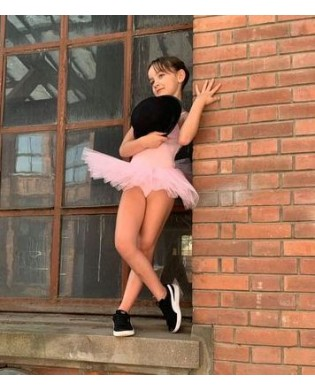Tutu bottoms with 6 layers of tulle pink