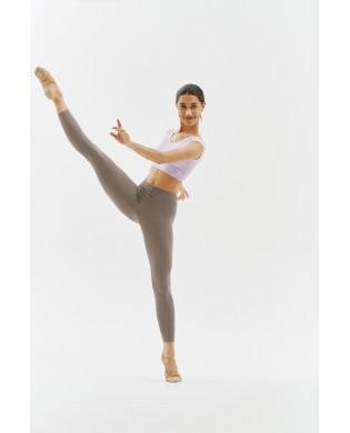Legging yoga, dance tights woman SMK ash brown in organic modal