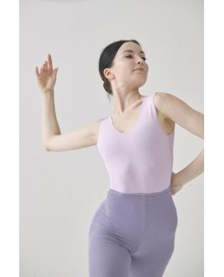 SMK reversible dance leotard for women in CREORA pastel gray purple