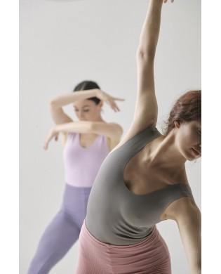 Justaucorps danse femme réversible SMK en CREORA gris violet pastel