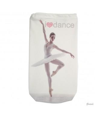 Tanztasche zur Aufbewahrung von Ballett Spitzenschuhen mit Ballerina im Tutu