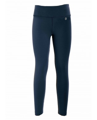 Legging Sport fitness, danse, yoga Femme Coton Bio uni Bleu marine